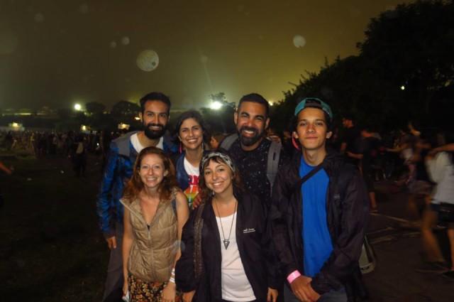 Encerramento de pesquisa de campo no Lollapalooza SP 2015. Cansados, mas motivados pro próximo!