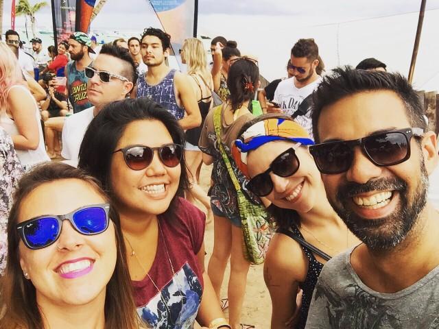 Pulso @Crew Love, na foto Renata, Fernanda, Maurice (de camisa branca no fundo), Carol e eu.