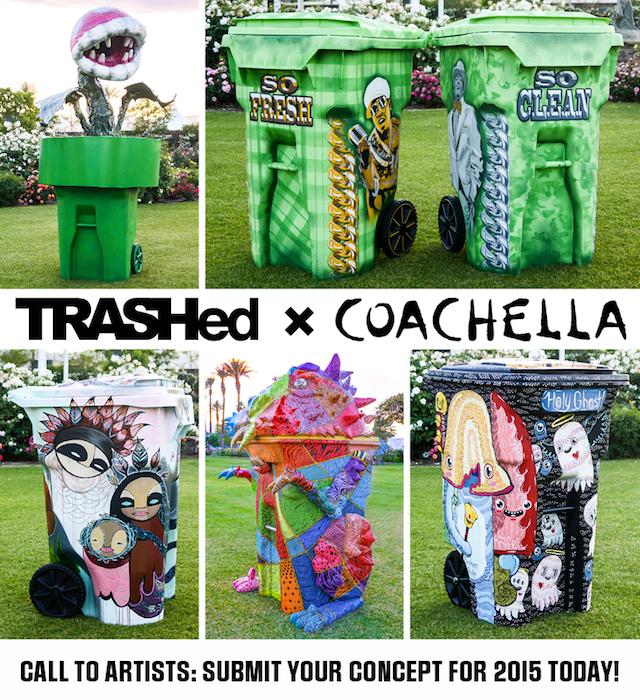 Artistas personalizam as lixeiras do festival