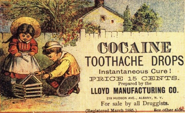 Até o início do século, a cocaína era comercializada em farmácias como qualquer outra droga
