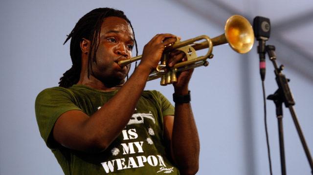 Shamarr Allen em apresentação no festival em 2009