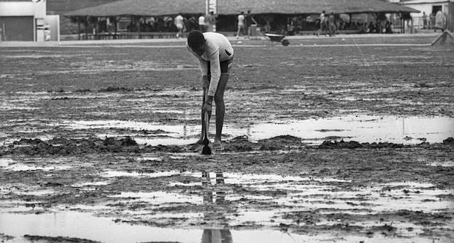 Rock in Rio na lama, 1985, Fonte: Acervo O Globo