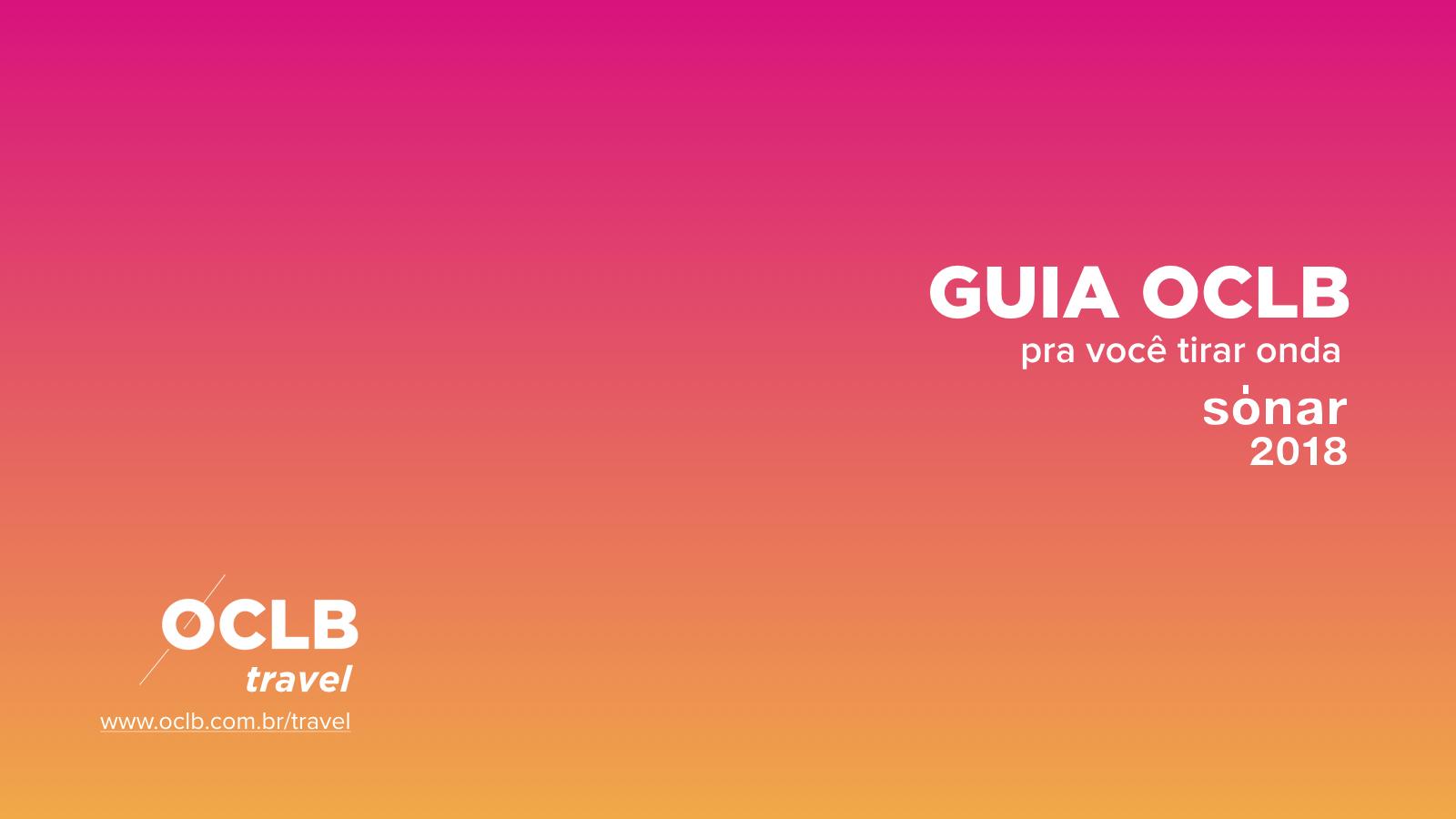 Especial: Guia OCLB Travel Sónar 25 anos