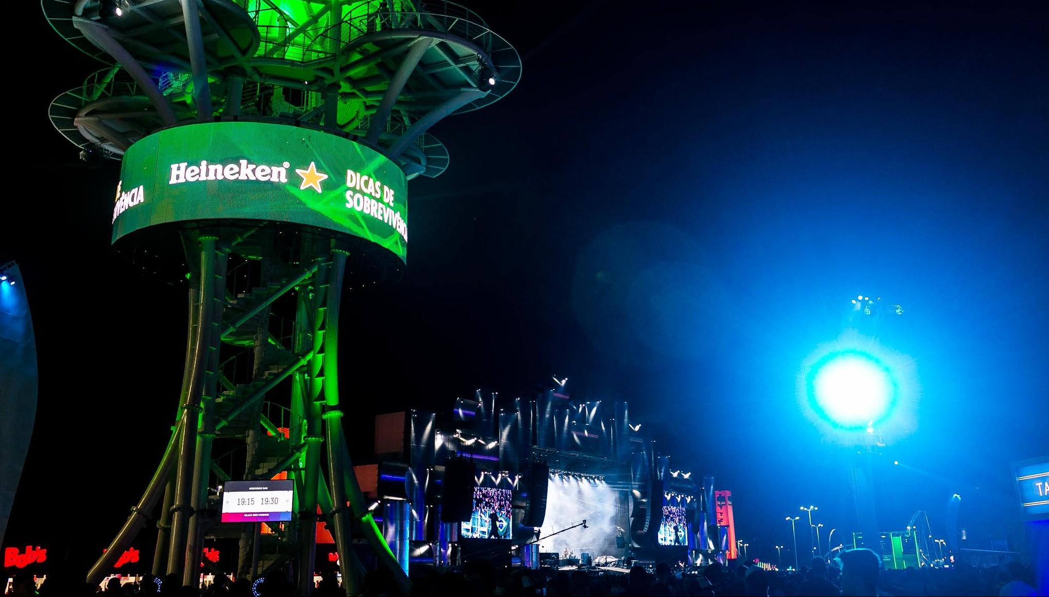 Ativações de marca no Rock in Rio 2019: Heineken investe em aventura e sustentabilidade