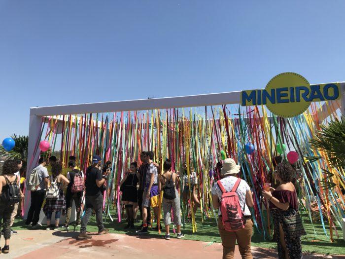 Espaço para fotos no Festival Sarará