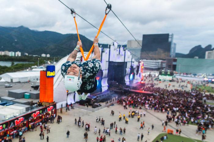 Tirolesa Heineken Rock in Rio 2019