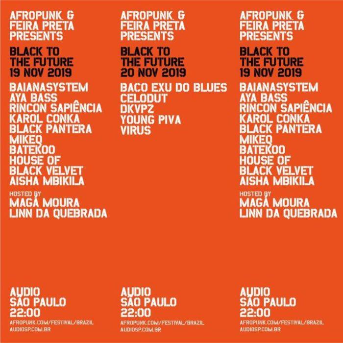 Lineup Afropunk Brasil